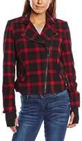 Eleven Paris Women's PRODIGY W Reefer Button Front Long Sleeve Jacket