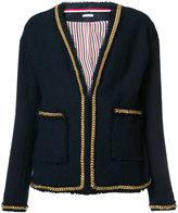 Thom Browne chain detail V-neck jacket