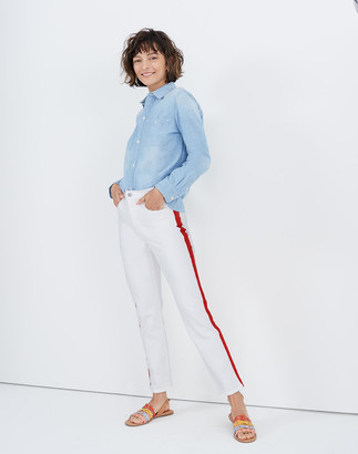Madewell Petite Stovepipe Jeans in Tile White: Tuxedo Stripe Edition