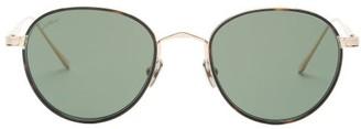 Cartier C De Round Titanium Sunglasses - Gold