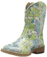Roper Glitter Swirl Square Toe Cowgirl Boot (Toddler/Little Kid),5 M US Toddler