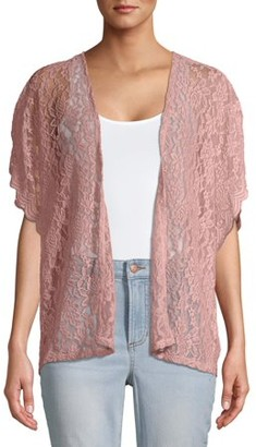No Boundaries Juniors' Lace Kimono