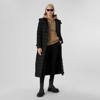 Burberry Logo Applique Detachable Hood Puffer Coat