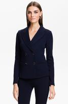 St. John Double Breasted Milano Knit Jacket