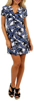 24/7 Comfort Apparel Blue Sky Mini Dress