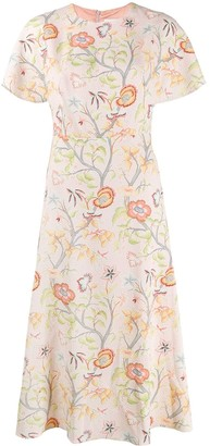 Peter Pilotto Flower Canopy flared dress