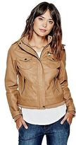 GUESS Women's Junie Faux-Leather Jacket