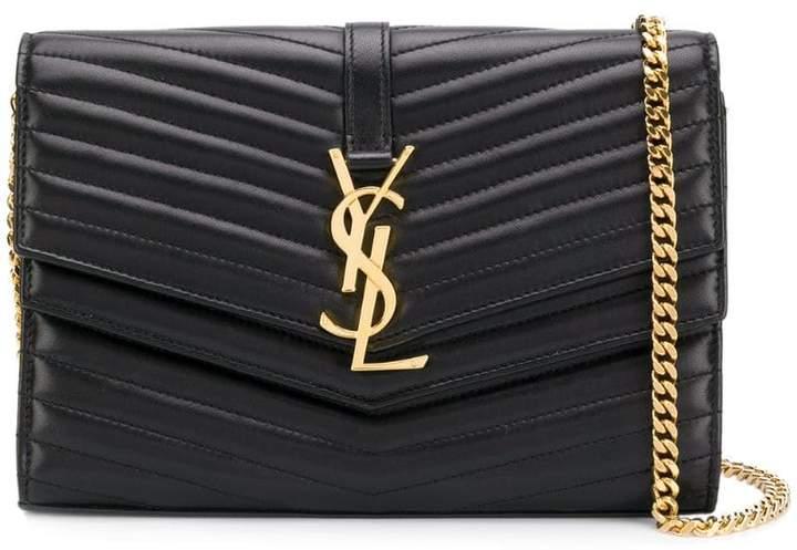 Saint Laurent quilted chain wallet