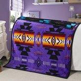 Southwest Design (Navajo Print) Baby Size Reversible Purple/Black