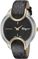 Salvatore Ferragamo Women's FIZ090015 Signature Analog Display Quartz Black Watch