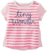 Osh Kosh Baby Girl Striped Embroidered Top