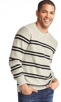 Gap Merino-blend dual-stripe crew sweater