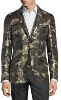 Etro Sequined Camouflage Sport Jacket