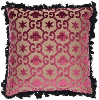 Gucci Gg Jacquard Pillow