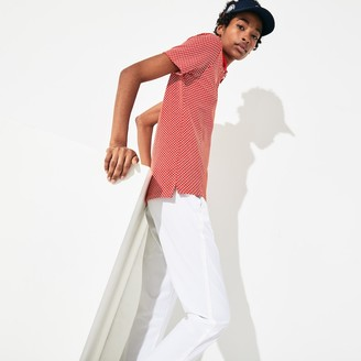 Lacoste Women's SPORT Roland Garros Printed Cotton Polo Shirt