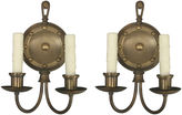 One Kings Lane Vintage 1930s Federal-Style Sconces, Pair