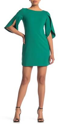 Vince Camuto Tulip Sleeve Sheath Dress (Petite)