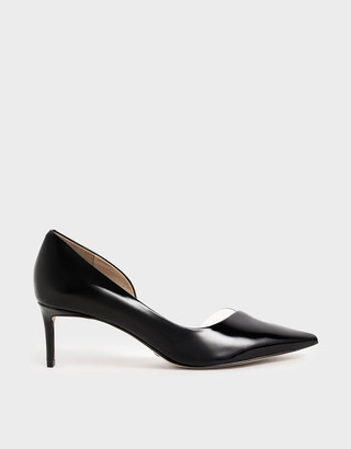 Charles & Keith Patent Leather D'Orsay Court Shoes