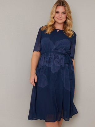 Chi Chi London Curve Seymour Dress - Navy