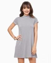 Charming charlie Striped Mock Neck Dress