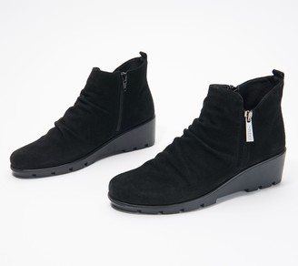 The Flexx Suede Wedge Boots - Sling Shot