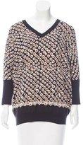 Derek Lam 10 Crosby V-Neck Short Sleeve Sweater