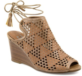 Journee Collection Tandra Laser Cutout Wedge Sandal