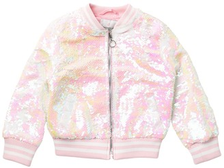 Urban Republic Flip Sequin Bomber Jacket (Toddler Girls)