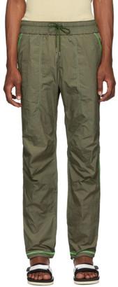 John Elliott Khaki High Shrunk Nylon Trenton Lounge Pants