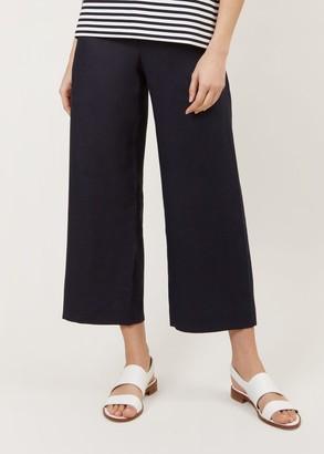 Hobbs Nicole Linen Crop Trouser