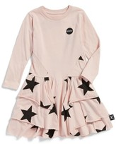 Nununu Toddler Girl's Star Print Layered Dress