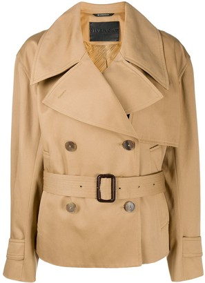 Givenchy Short Belted Trench Coat