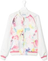 Simonetta printed bomber jacket - kids - Polyester/Acetate/Cupro - 14 yrs