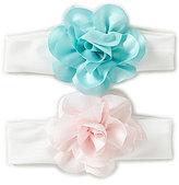 Starting Out Baby Girls 2-Pack Satin Chiffon Rose Heandbands