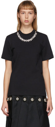 Christopher Kane Black Crystal Necklace T-Shirt