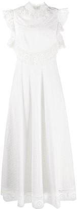 Zimmermann laser-cut lace dress