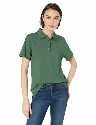 Clementine Women's ULTC-UC100W-UltraClub Ladies' Heathered Pique Polo
