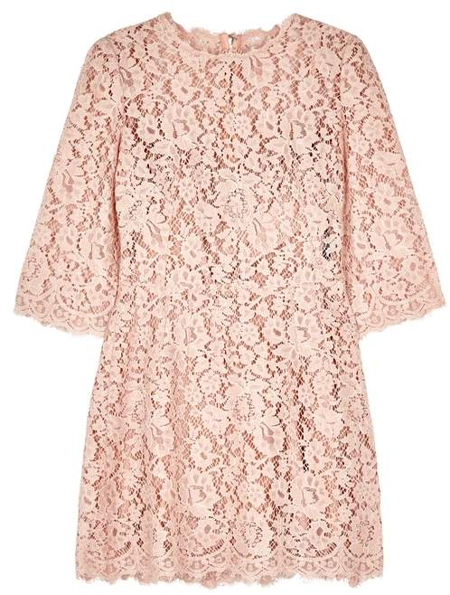 Dolce & Gabbana Blush Lace Dress