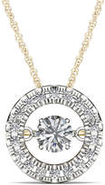 JCPenney FINE JEWELRY Love in Motion 1/4 CT. T.W. Diamond 10K Yellow Gold Round Pendant Necklace