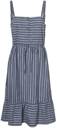 Vero Moda Cary Chambray Strap Dress Curve Lt
