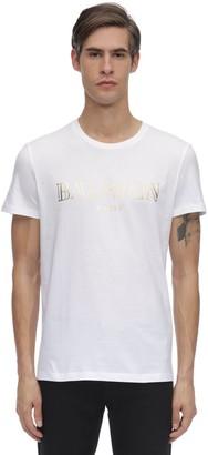 Balmain Lvr Exclusive Logo Print Jersey T-shirt