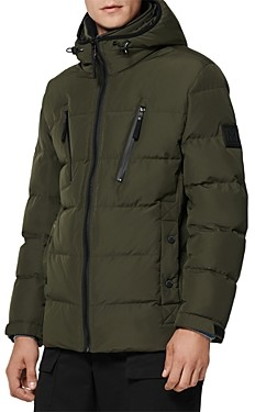 Andrew Marc Montrose Mid Length Water Resistant Puffer Coat