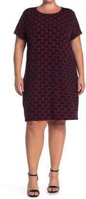 Leota Aline Dotted T-Shirt Dress (Plus Size)