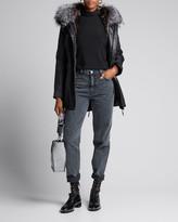 Nicole Benisti Belleville Solid Fur Trimmed & Lined Coat