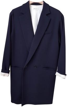 Masscob Navy Wool Coat for Women