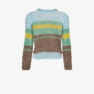 Y/Project Striped knitted sweater
