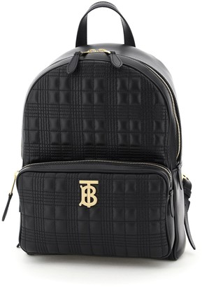 Burberry Quilted Tartan Motif Backpack
