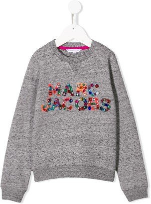 Little Marc Jacobs Embellished Logo Jumper