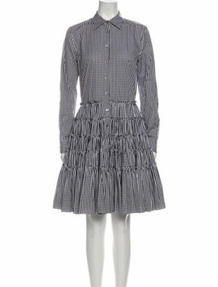 ANAÏS JOURDEN Plaid Print Knee-Length Dress White