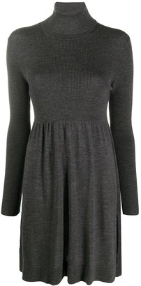 P.A.R.O.S.H. Ribbed Roll Neck Dress
